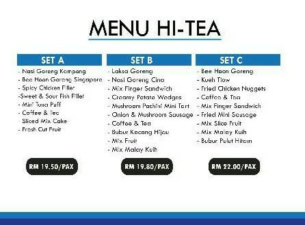menu hi-tea